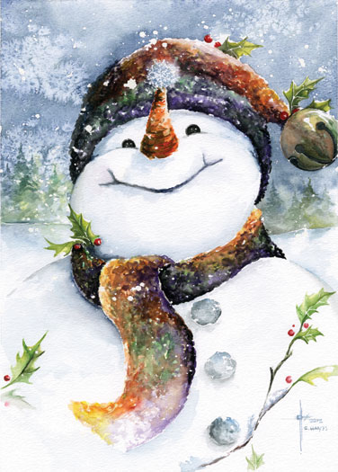 Christmas art by ryan Christmas card scenes to paint
